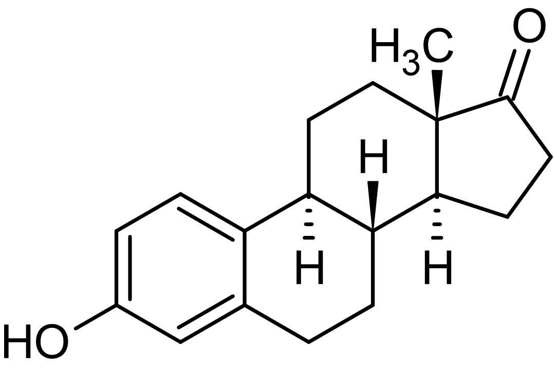 Chemical Structure - Estrone, Estrogenic hormone (ab142675)