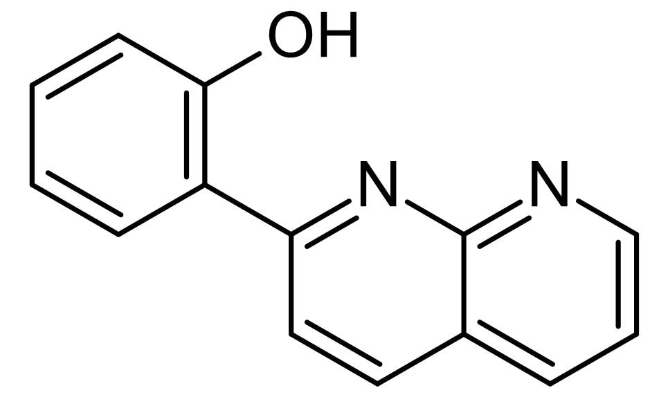 Chemical Structure - 2-(1,8-Naphthyridin-2-ly)phenol,  STAT1 transcriptional activator (ab142704)