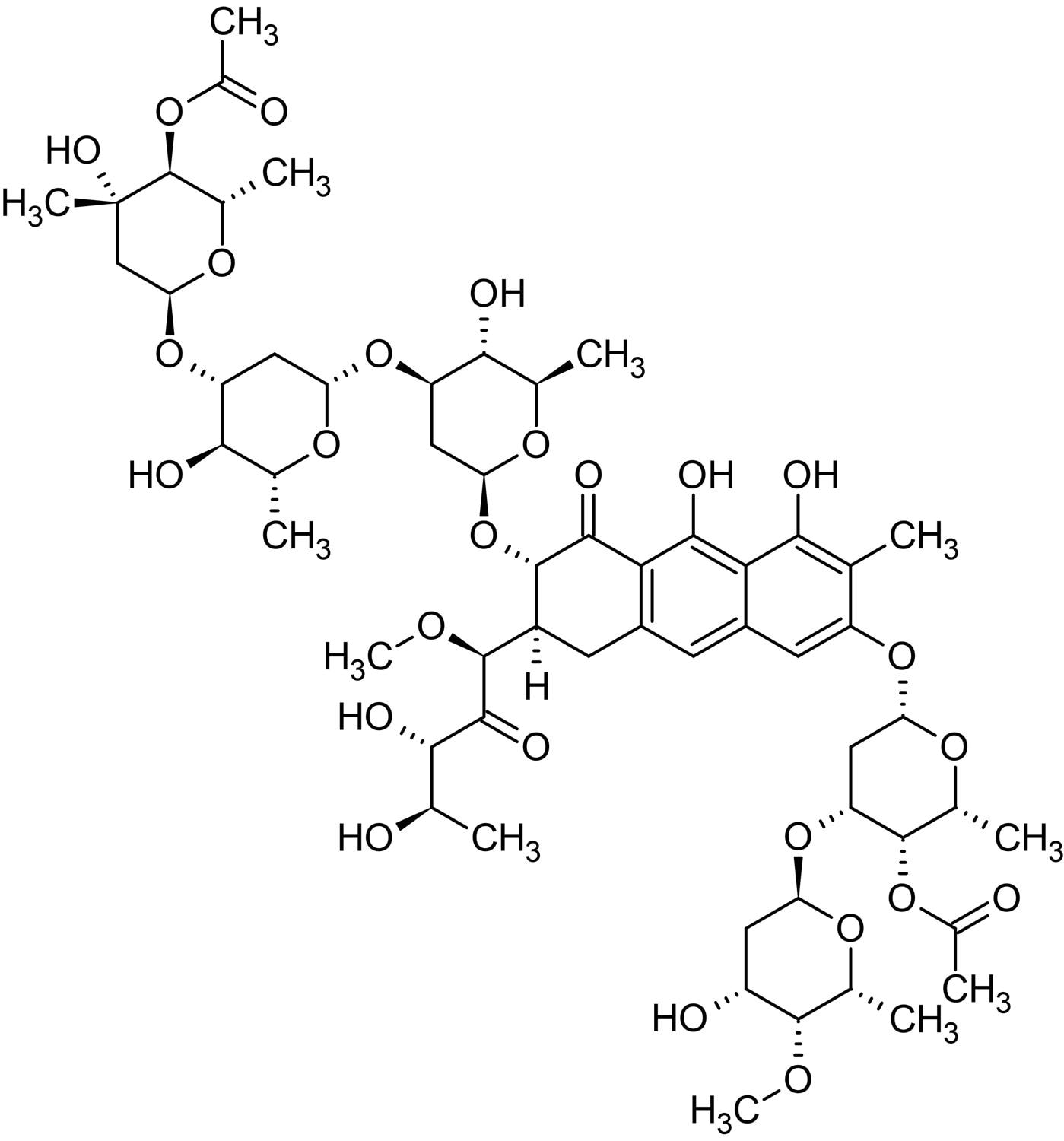 Chemical Structure - Chromomycin A3, fluorescent DNA stain (ab142718)