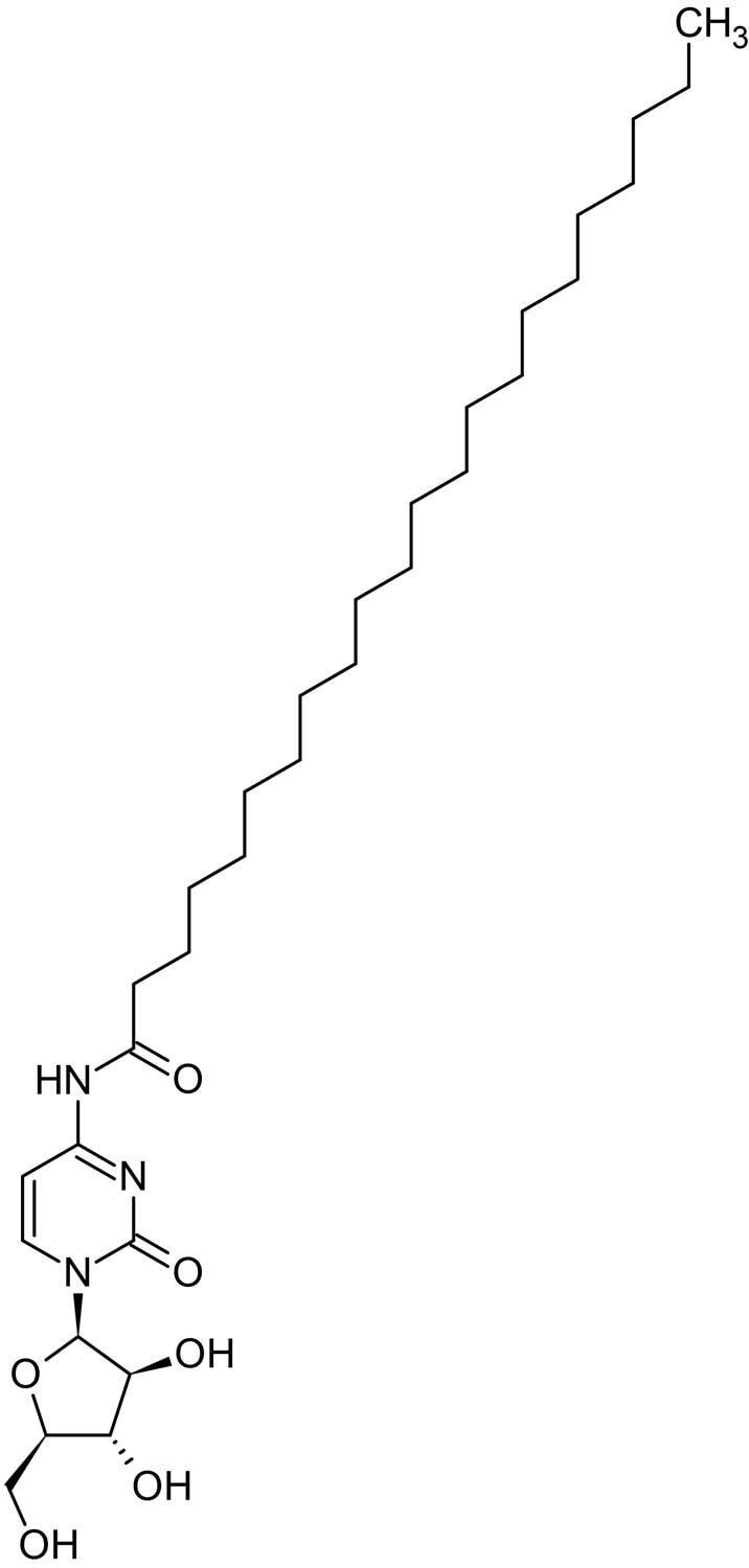 Chemical Structure - Enocitabine, DNA replication inhibitor. (ab142733)