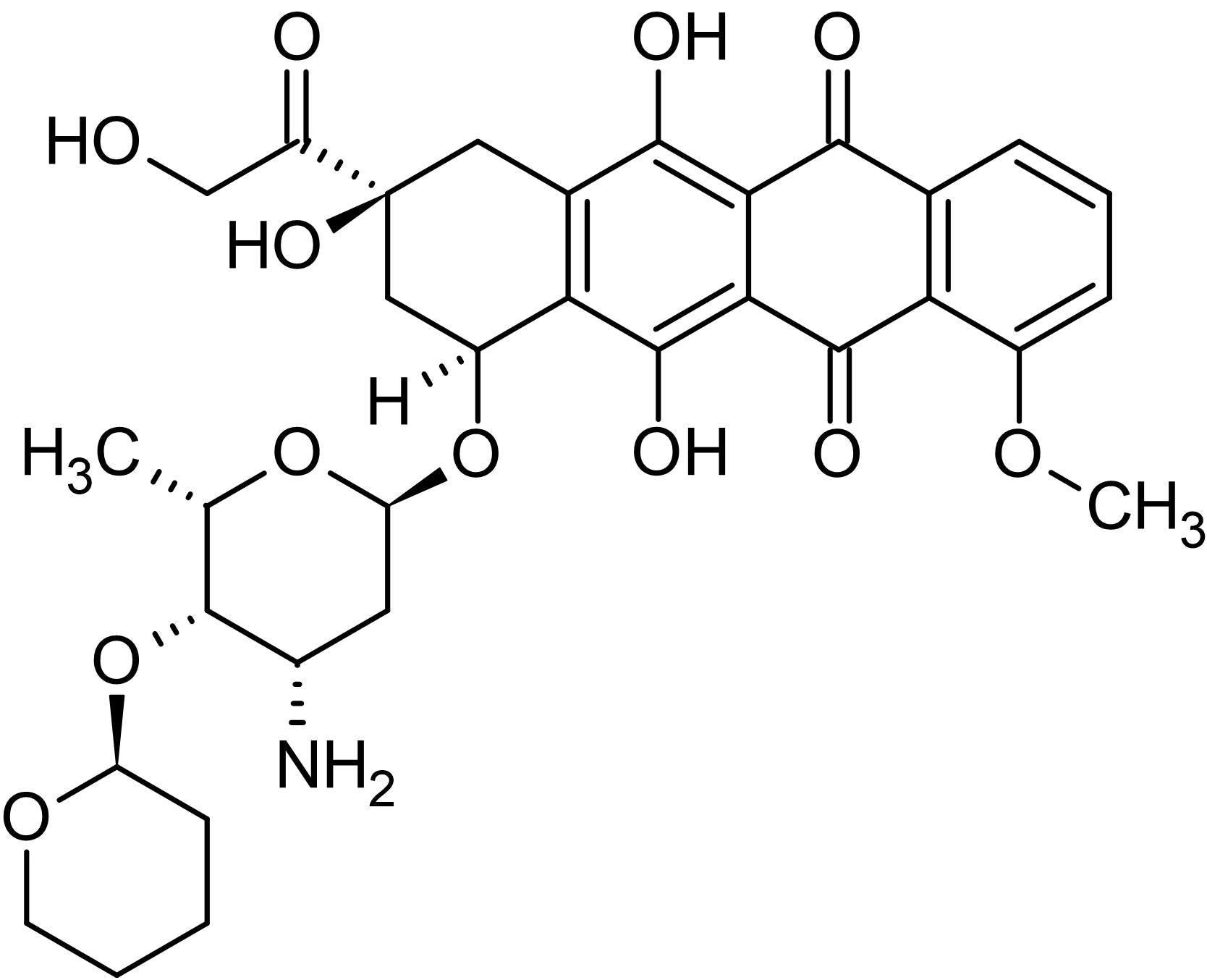 Chemical Structure - Pirarubicin, Topoisomerase II inhibitor (ab142734)