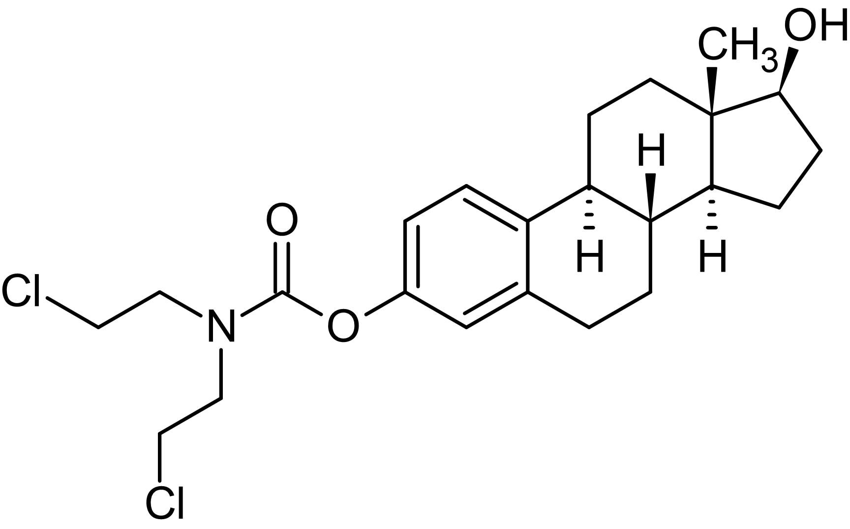 Chemical Structure - Estramustine, Microtubule assembly inhibitor (ab142746)