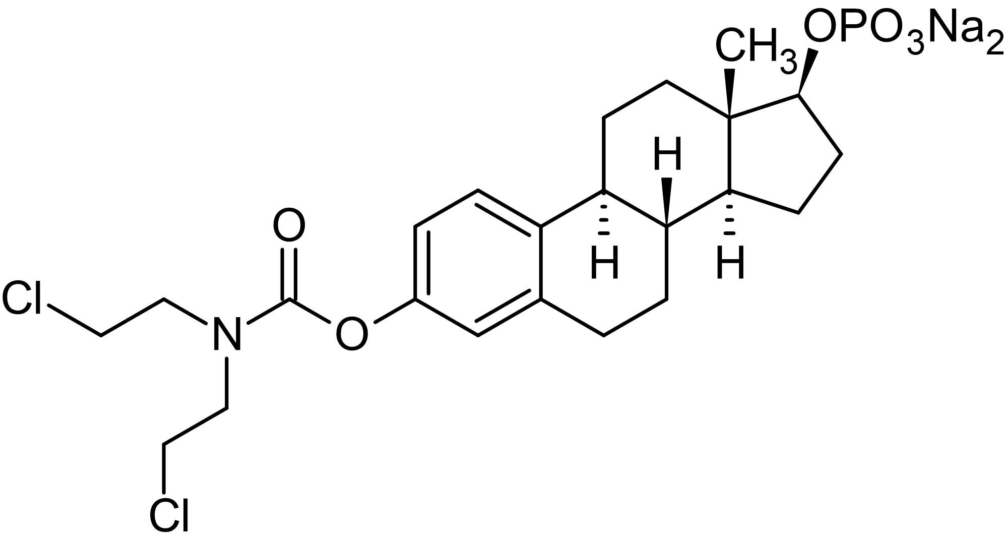 Chemical Structure - Estramustine phosphate sodium, antimitotic, antitumour agent (ab142747)
