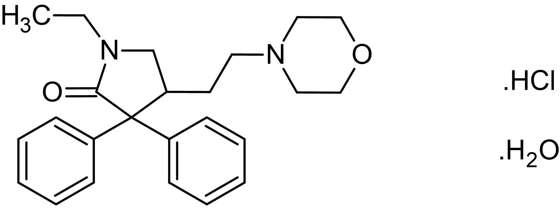Chemical Structure - Doxapram hydrochloride monohydrate, K+ channel blocker (ab142751)