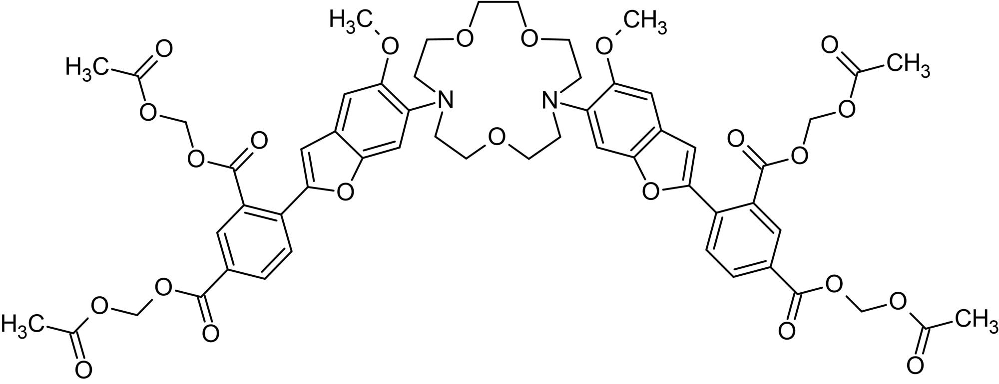 Chemical Structure - SBFI AM, fluorescent Na<sup>+</sup> indicator (ab142800)