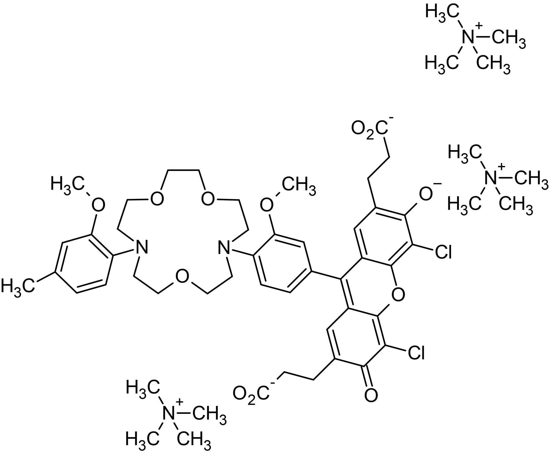 Chemical Structure - ION NaTRIUM Green&trade;-2 TMA+ Salt, cytosolic Na<sup>+</sup> indicator (ab142803)