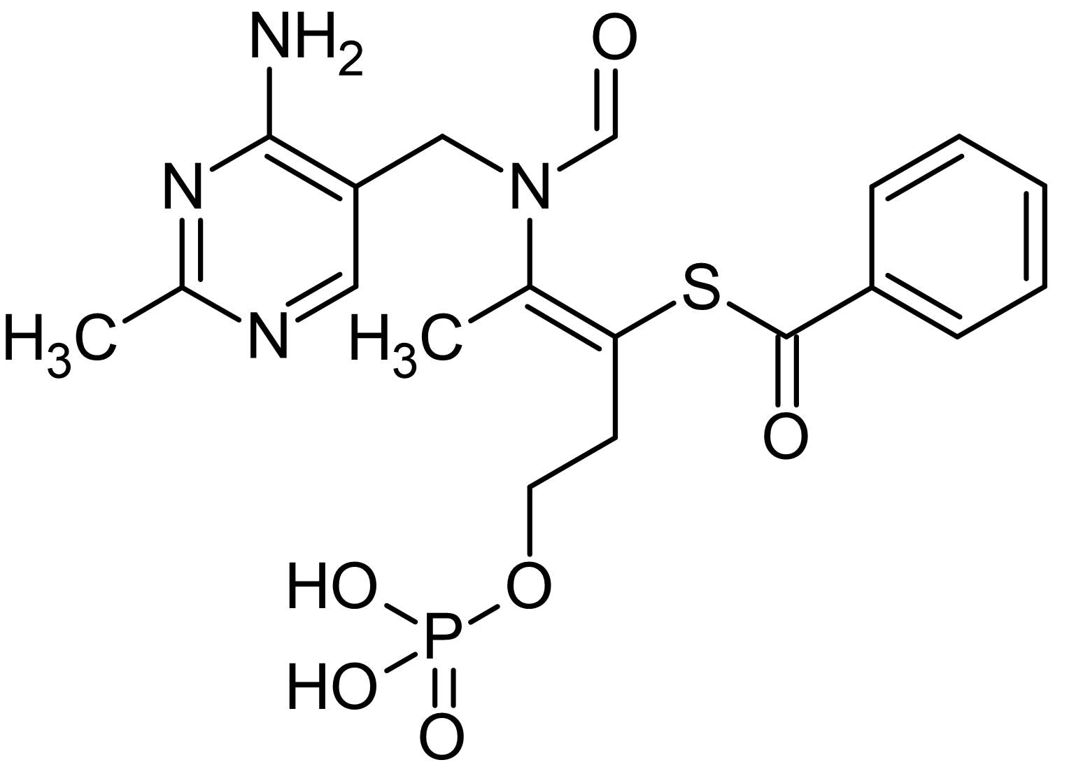 Chemical Structure - Benfotiamine, vitamin B1 analogue (ab142831)