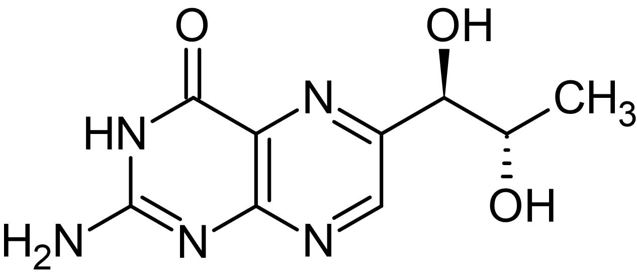 Chemical Structure - Biopterin, coenzyme and cofactor of iNOS activity (ab142835)