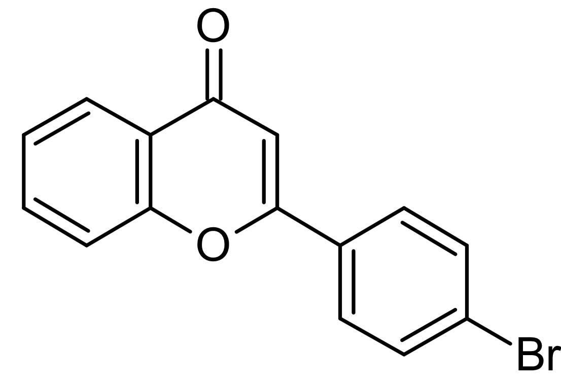 Chemical Structure - 4'-Bromoflavone, phase II detoxifying enzyme inducer (ab142840)