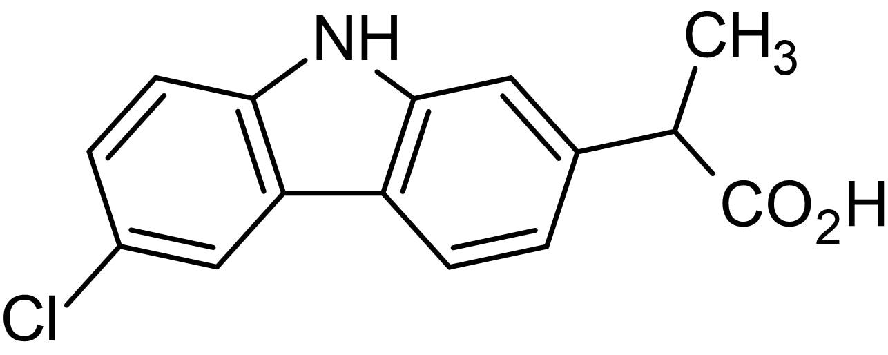 Chemical Structure - Carprofen, COX-2 inhibitor (ab142850)