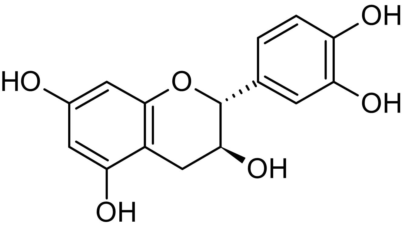 Chemical Structure - Catechin, Natural flavonoid compound (ab142852)