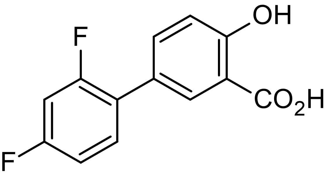 Chemical Structure - Diflunisal, difluorinated NSAID (ab142861)
