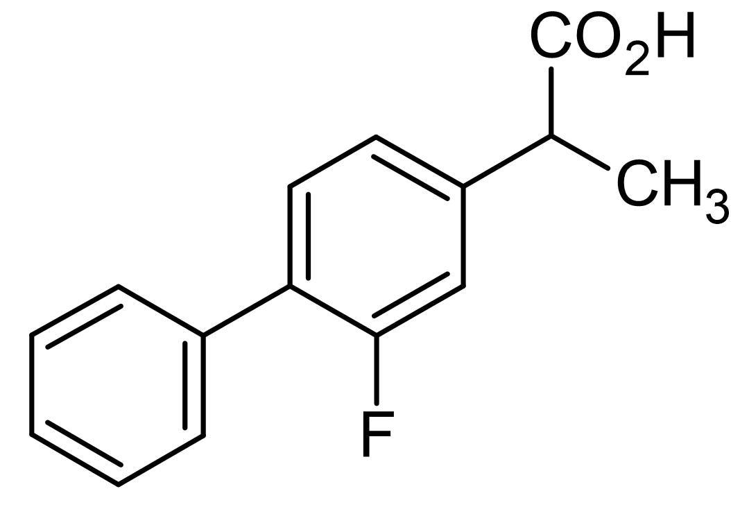 Chemical Structure - Flurbiprofen, COX inhibitor NSAID (ab142877)