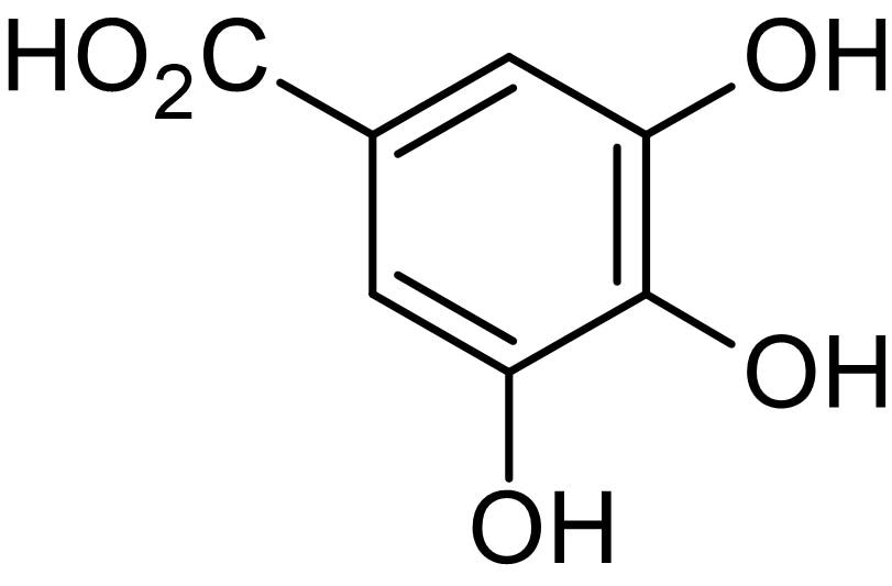 Chemical Structure - Gallic acid (3,4,5-Trihydroxybenzoic acid), Phase II enzyme inducer (ab142880)