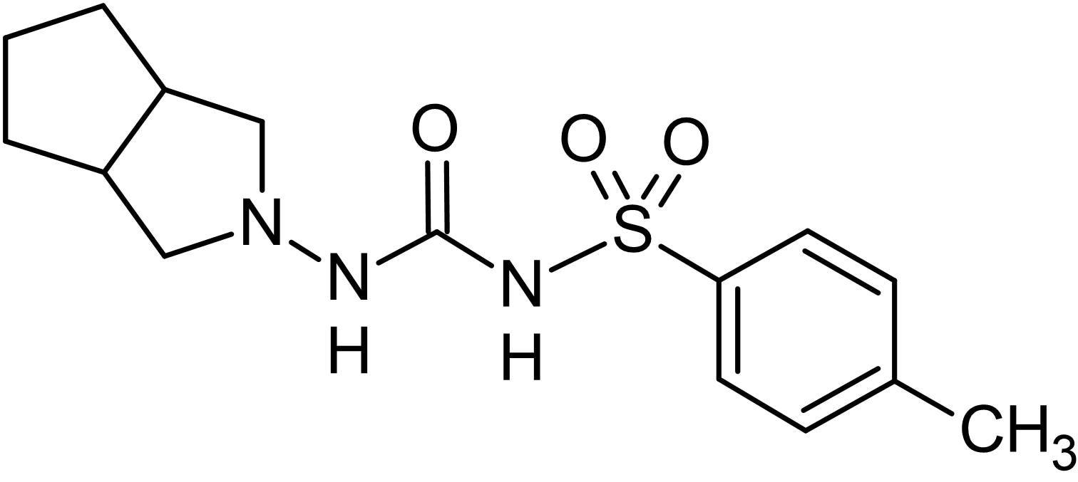Chemical Structure - Gliclazide, SUR-1 channel blocker (ab142884)