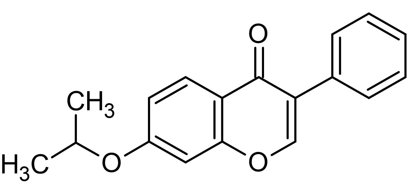 Chemical Structure - Ipriflavone, Estrogenic synthetic (ab142893)