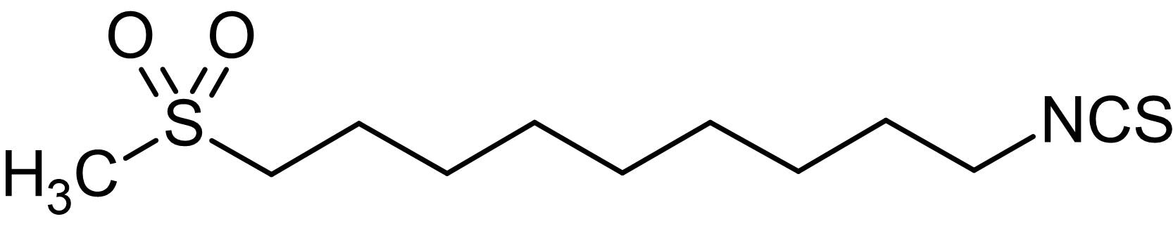 Chemical Structure - 1-Isothiocyanato-9-(methylsulfonyl)nonane, analogue of Erysolin (ab142901)