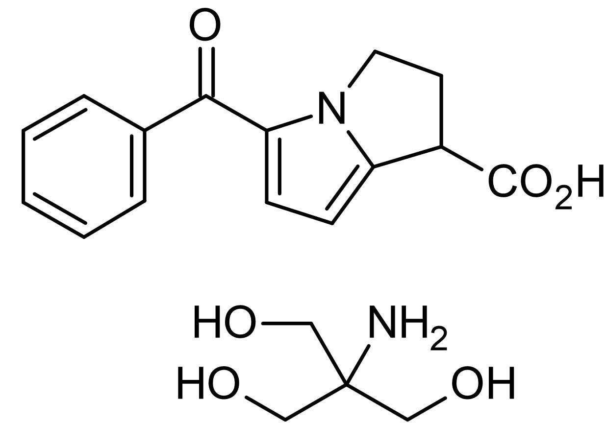 Chemical Structure - Ketorolac tromethamine, COX-1 inhibitor (ab142904)