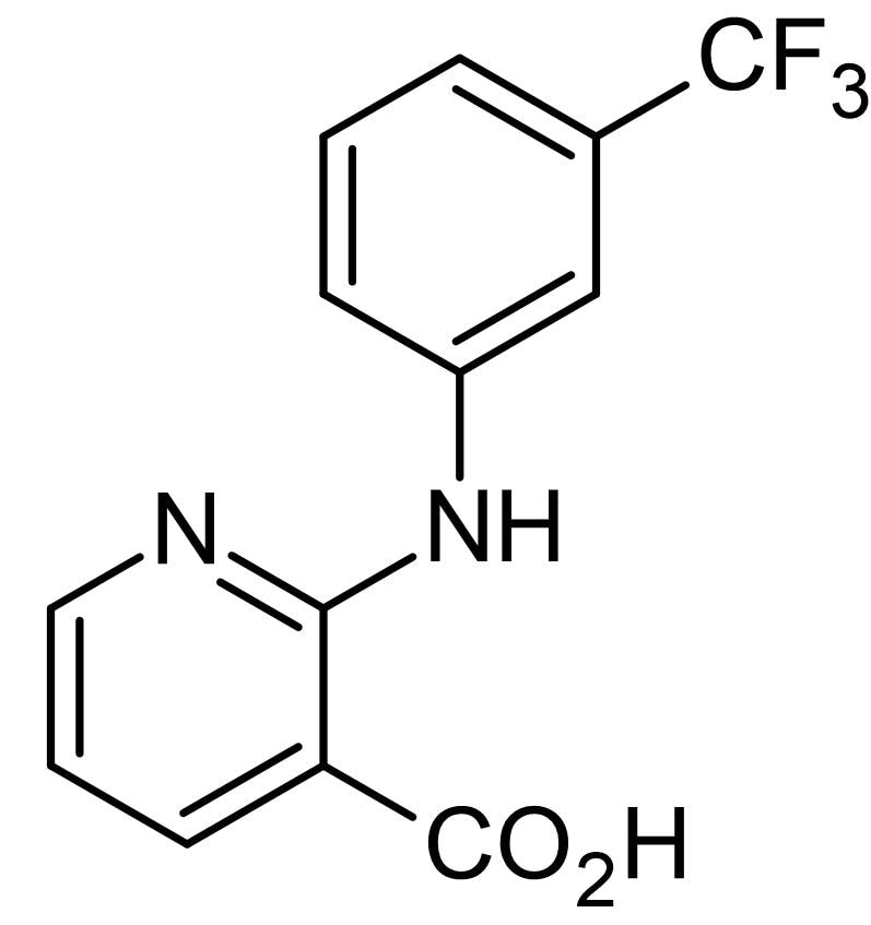 Chemical Structure - Niflumic acid, Anion channel blocker NSAID (ab142925)