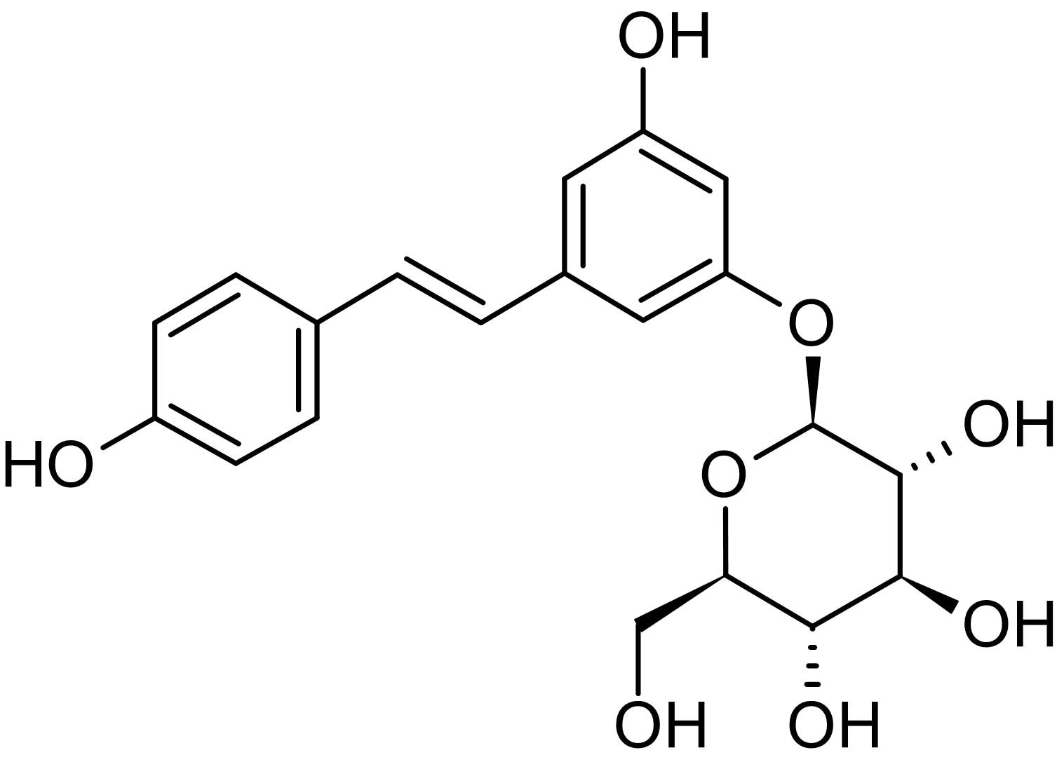 Chemical Structure - Polydatin, Anti-inflammatory (ab142934)