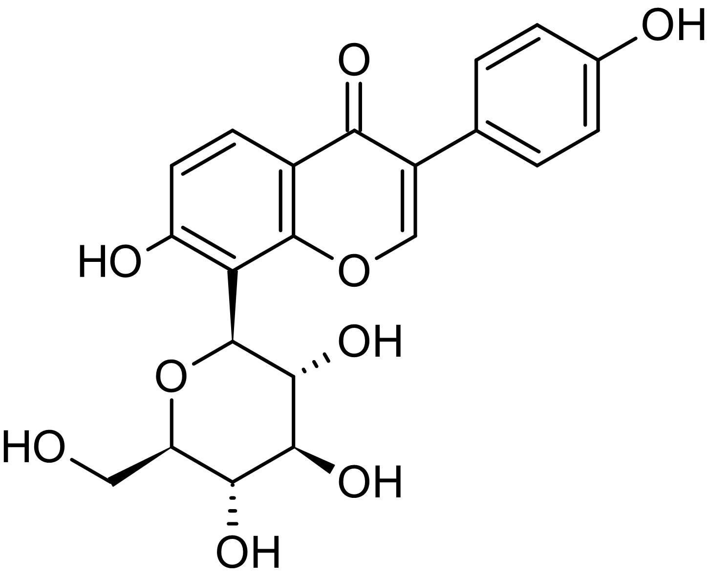 Chemical Structure - Puerarin, Plant derived isoflavone (ab142939)