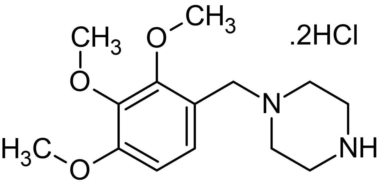 Chemical Structure - Trimetazidine, metabolic agent (ab142957)