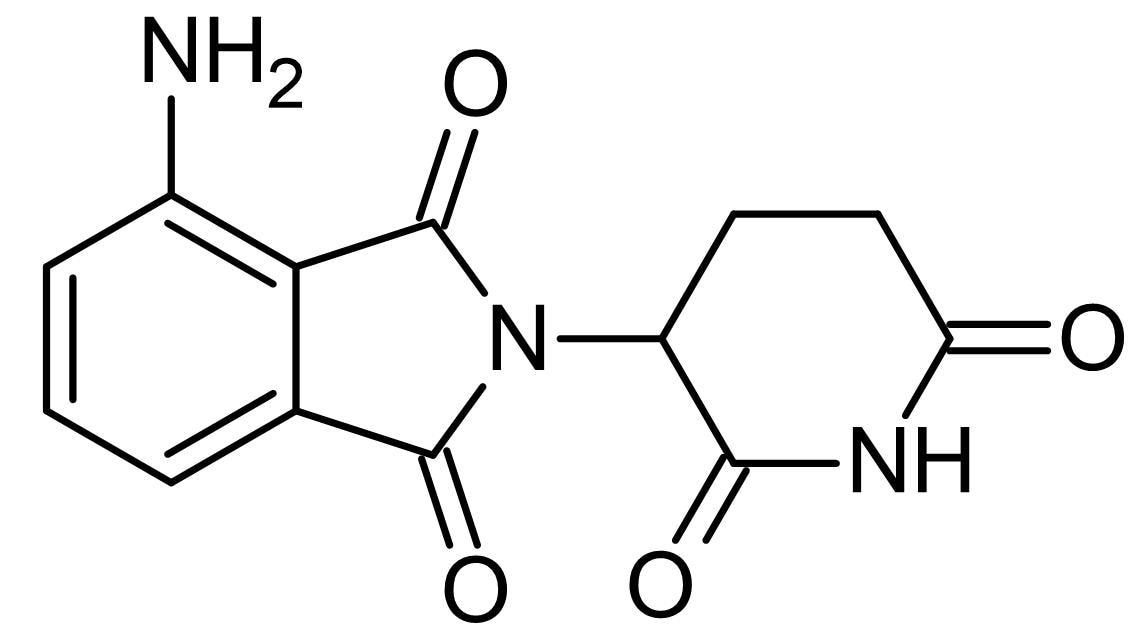 Chemical Structure - Pomalidomide, Antiangiogenic agent (ab143023)