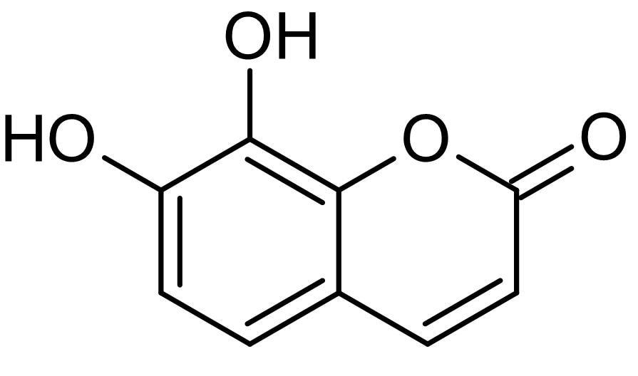 Chemical Structure - Daphnetin, Protein kinase inhibitor (ab143113)