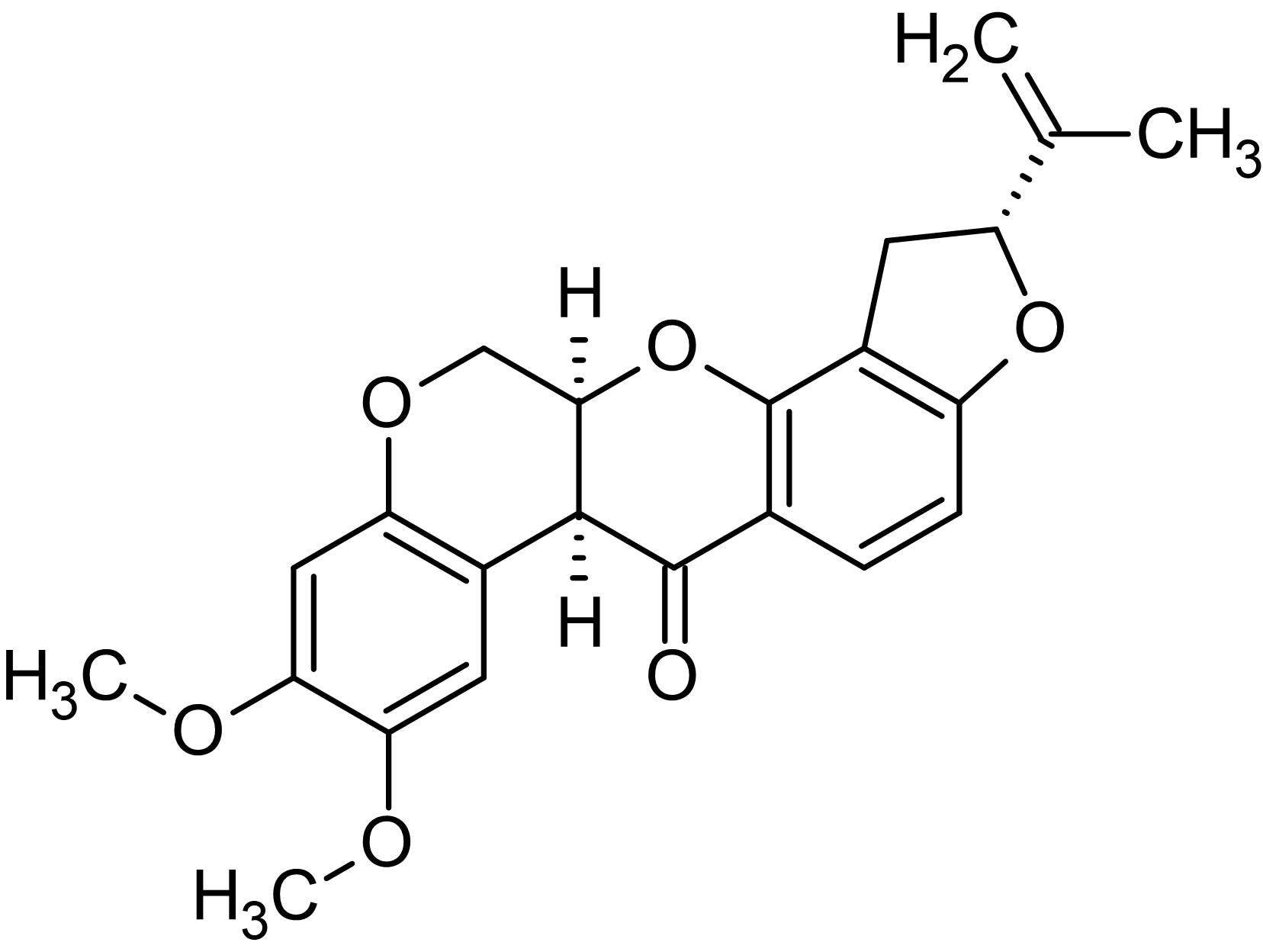 Chemical Structure - Rotenone, mitochondrial electron transport chain inhibitor (ab143145)