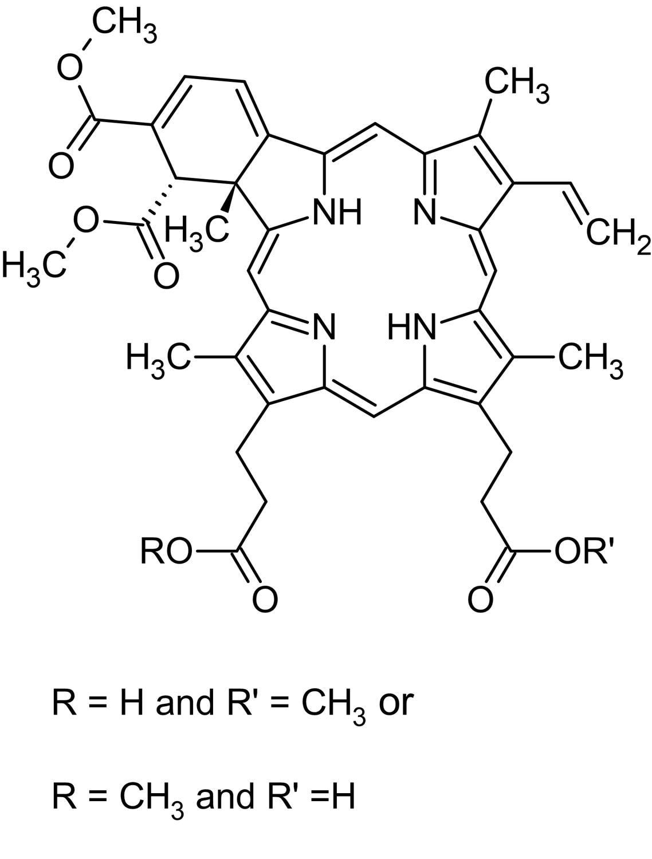 Chemical Structure - Verteporfin (Visudyne), Benzoporphyrin derivative (ab143294)