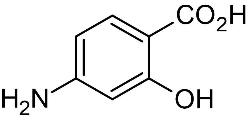 Chemical Structure - 4-Aminosalicylic acid (Para-aminosalicylic acid), pteridine synthetase inhibitor (ab143358)