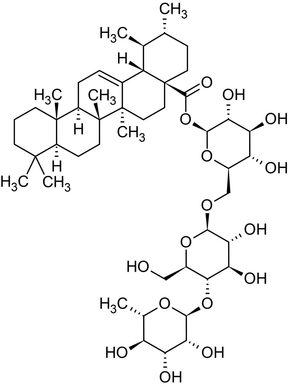 Chemical Structure - Asiaticoside, Triterpene glycoside (ab143362)