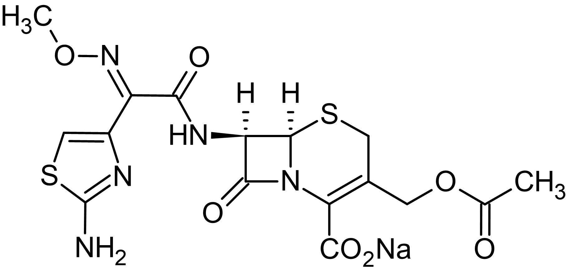 Chemical Structure - Cefotaxime sodium, cephalosporin antibiotic (ab143376)