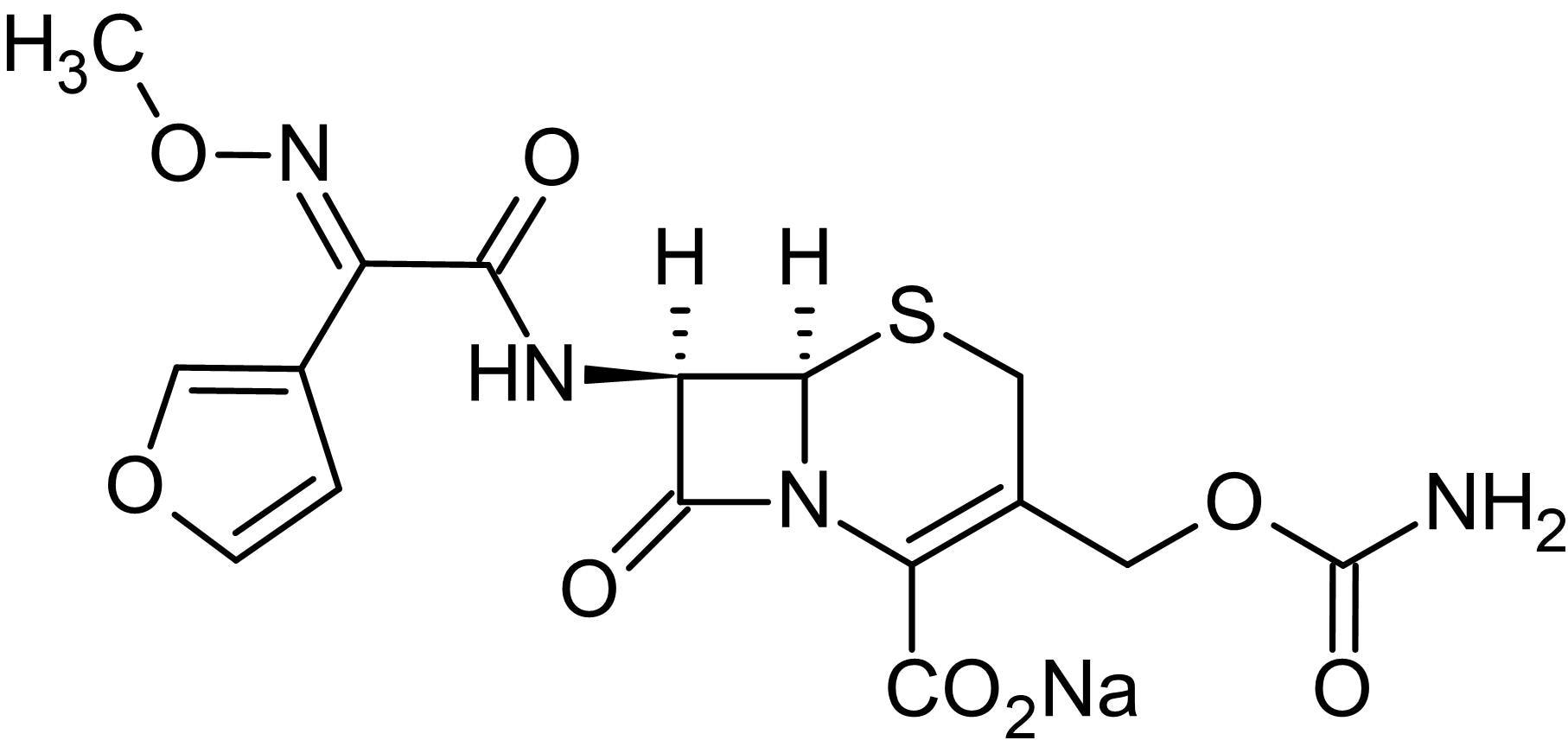 Chemical Structure - Cefuroxime sodium salt, cephalosporin antibiotic (ab143377)
