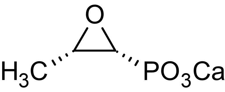 Chemical Structure - Fosfomycin calcium, antibiotic (ab143403)
