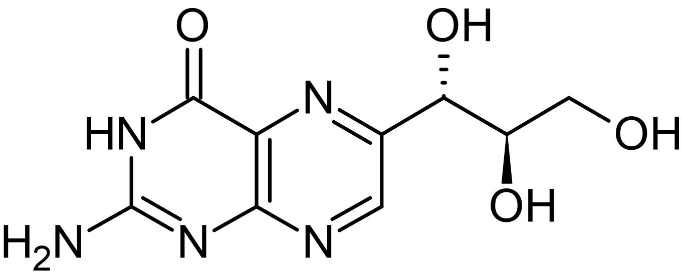 Chemical Structure - D-(+)-Neopterin, prognostic marker of immunodeficiency (ab143417)