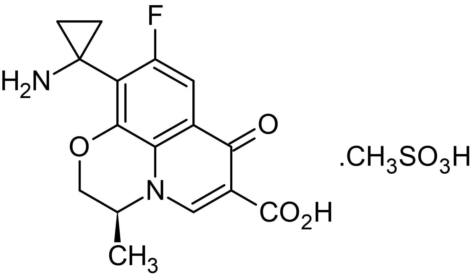 Chemical Structure - Pazufloxacin mesylate (T3762), fluoroquinolone antibiotic agent (ab143432)