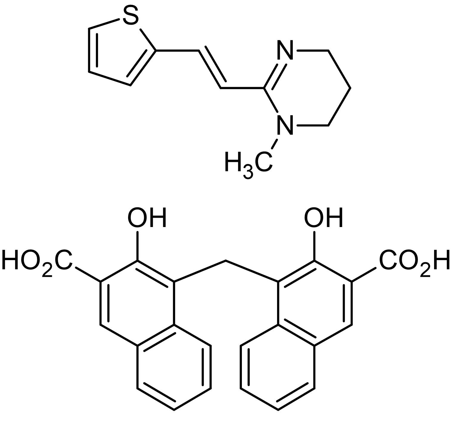 Chemical Structure - Pyrantel pamoate, antiparasitic agent (ab143443)