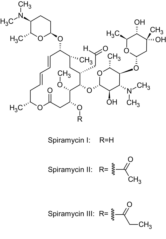 Chemical Structure - Spiramycin (Rovamycine), Macrolide antibiotic (ab143454)