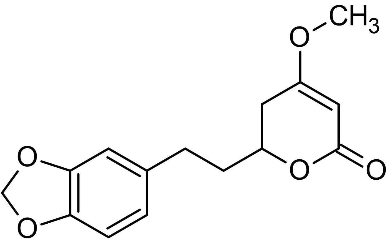 Chemical Structure - Dihydromethysticin, CYP1A1 inducer (ab143492)