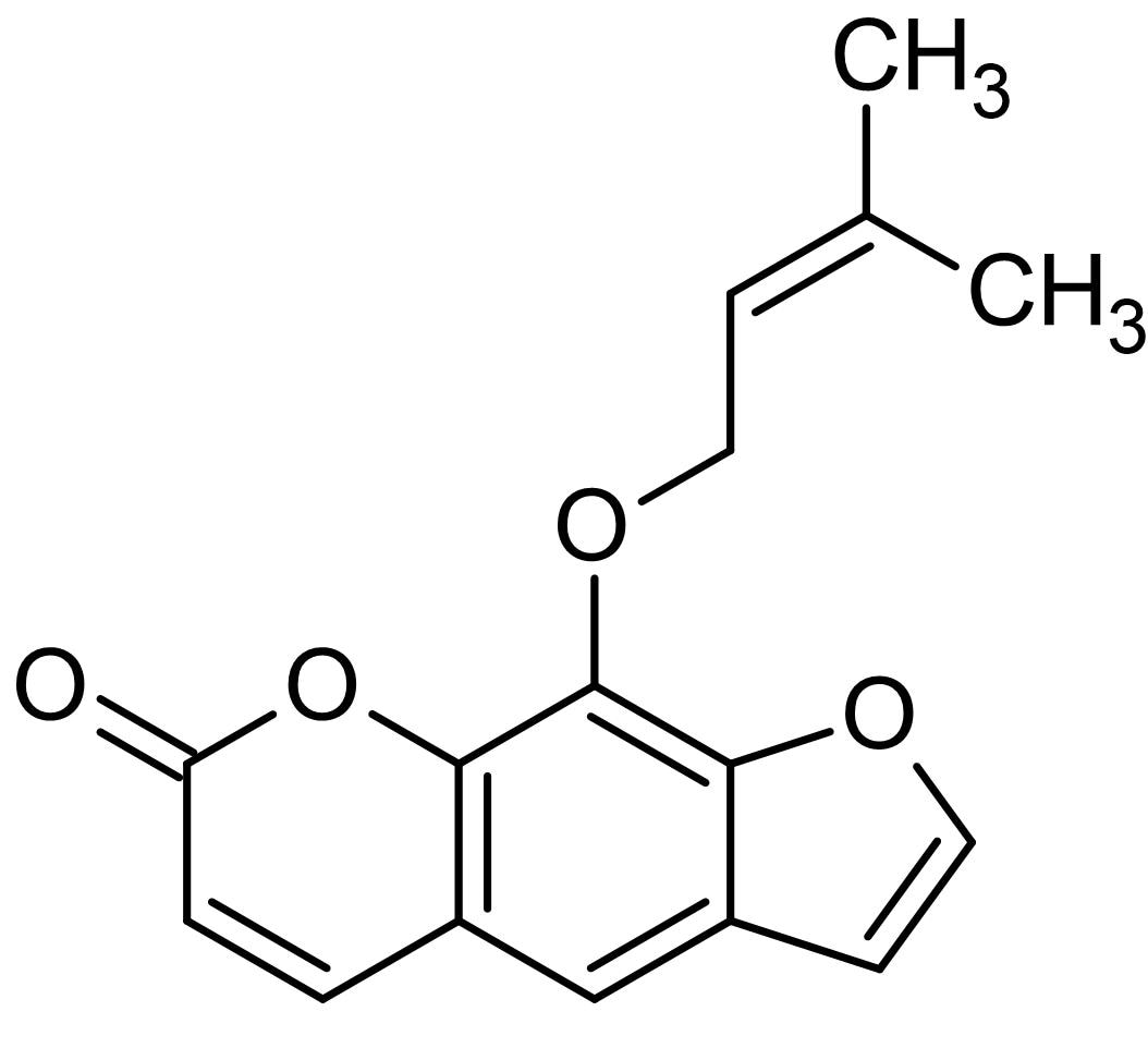 Chemical Structure - Imperatorin, Cyclin D1 inhibitor (ab143498)
