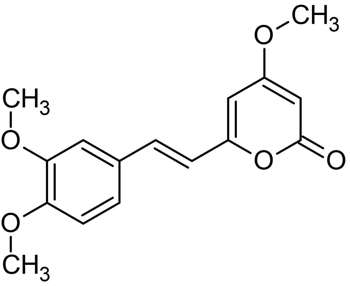 Chemical Structure - 11-Methoxyyangonin, Yangonin metabolite (ab143518)
