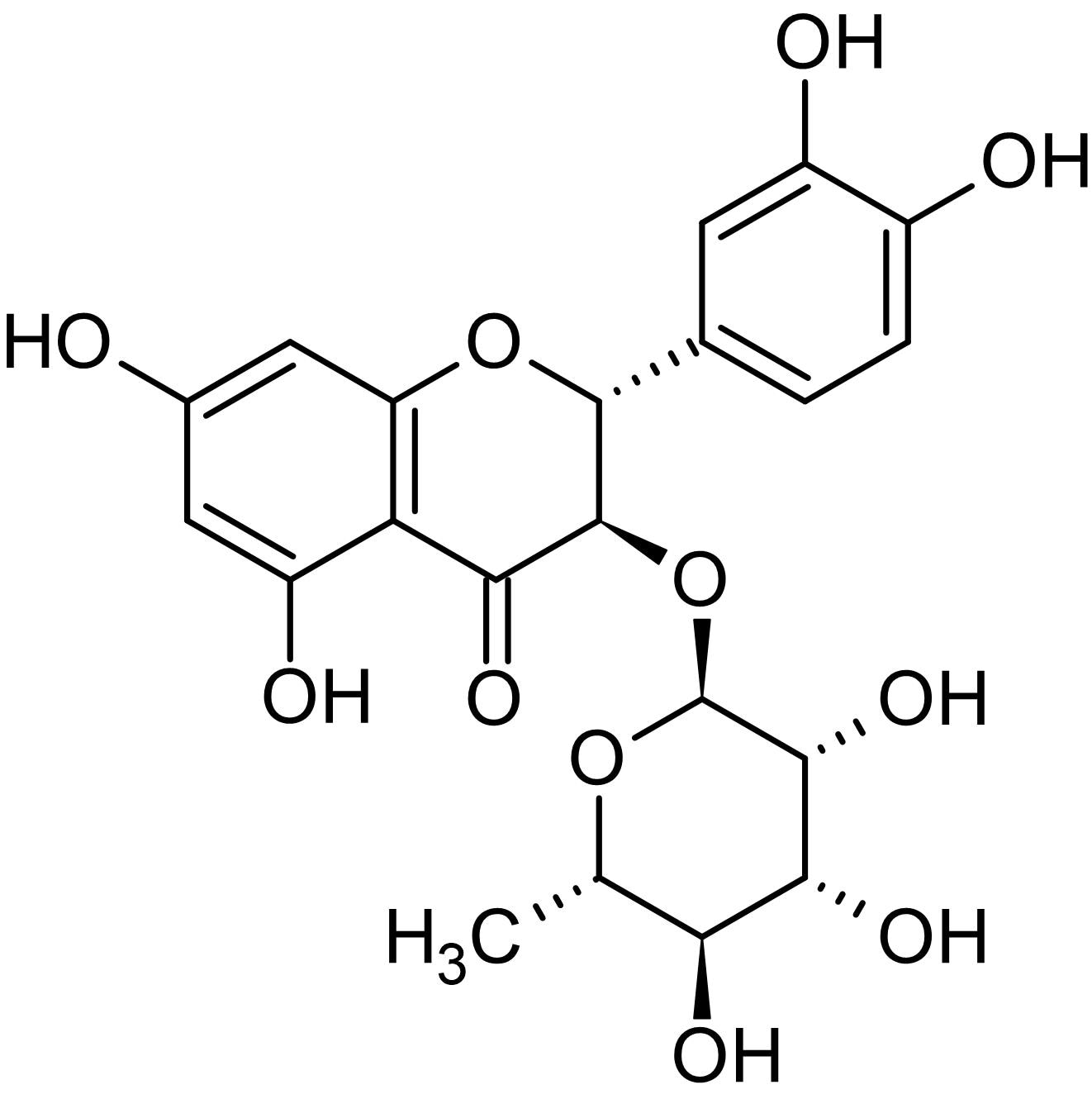 Chemical Structure - Astilbin, flavonoid found in plants (ab143575)