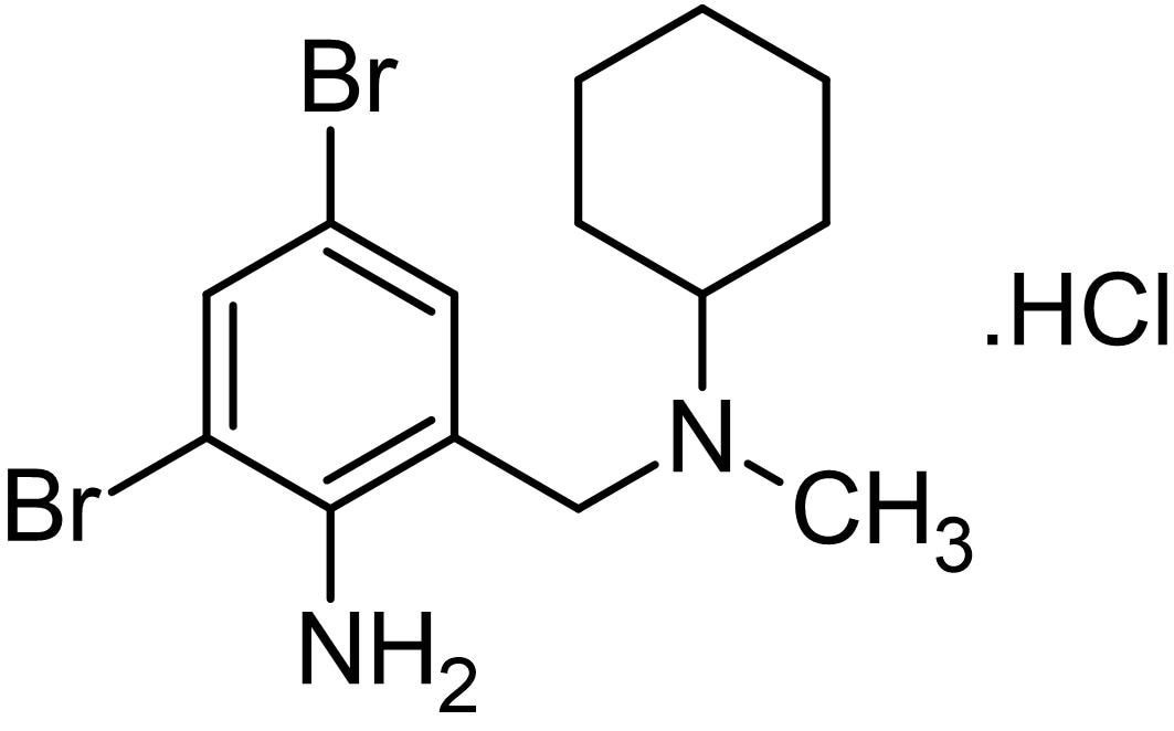 Chemical Structure - Bromhexine hydrochloride, antioxidant agent (ab143585)
