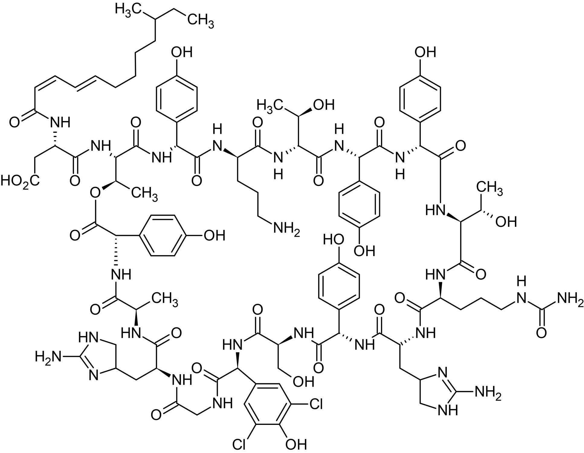 Chemical Structure - Enramycin B (Enduracidin B), Lipodepsipeptide antibiotic agent (ab143613)