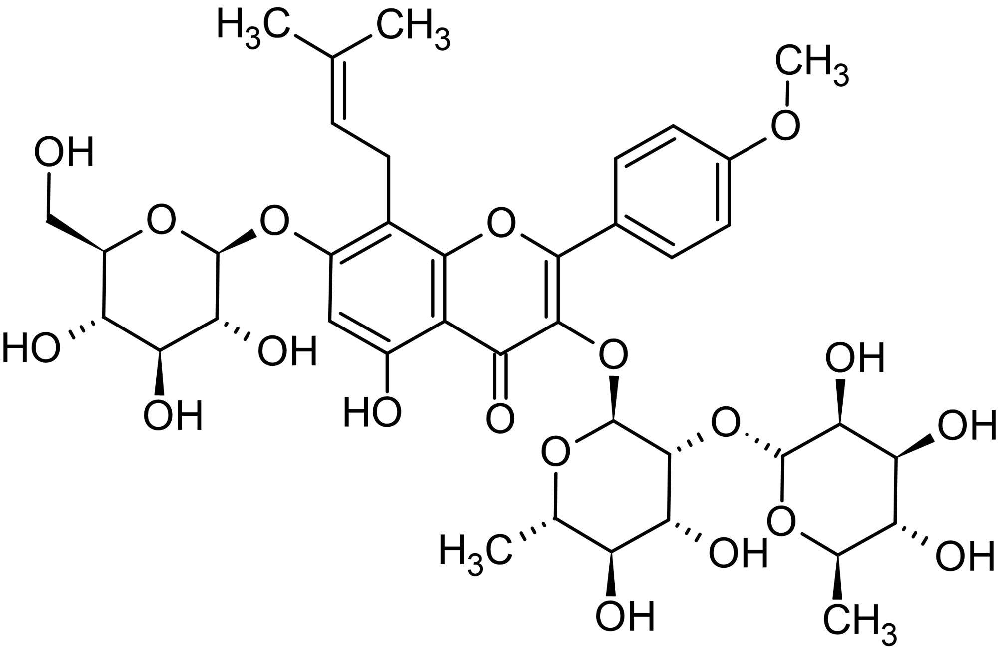 Chemical Structure - Epimedin C, Flavonoid (ab143614)