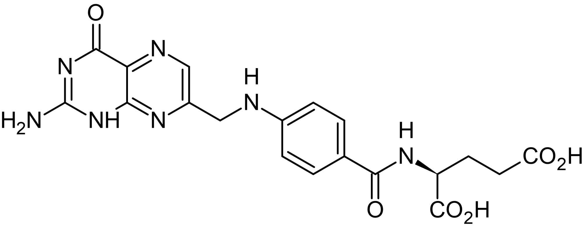 Chemical Structure - Folic acid (Folate), Synthetic vitamin B<sub>9</sub> (ab143621)