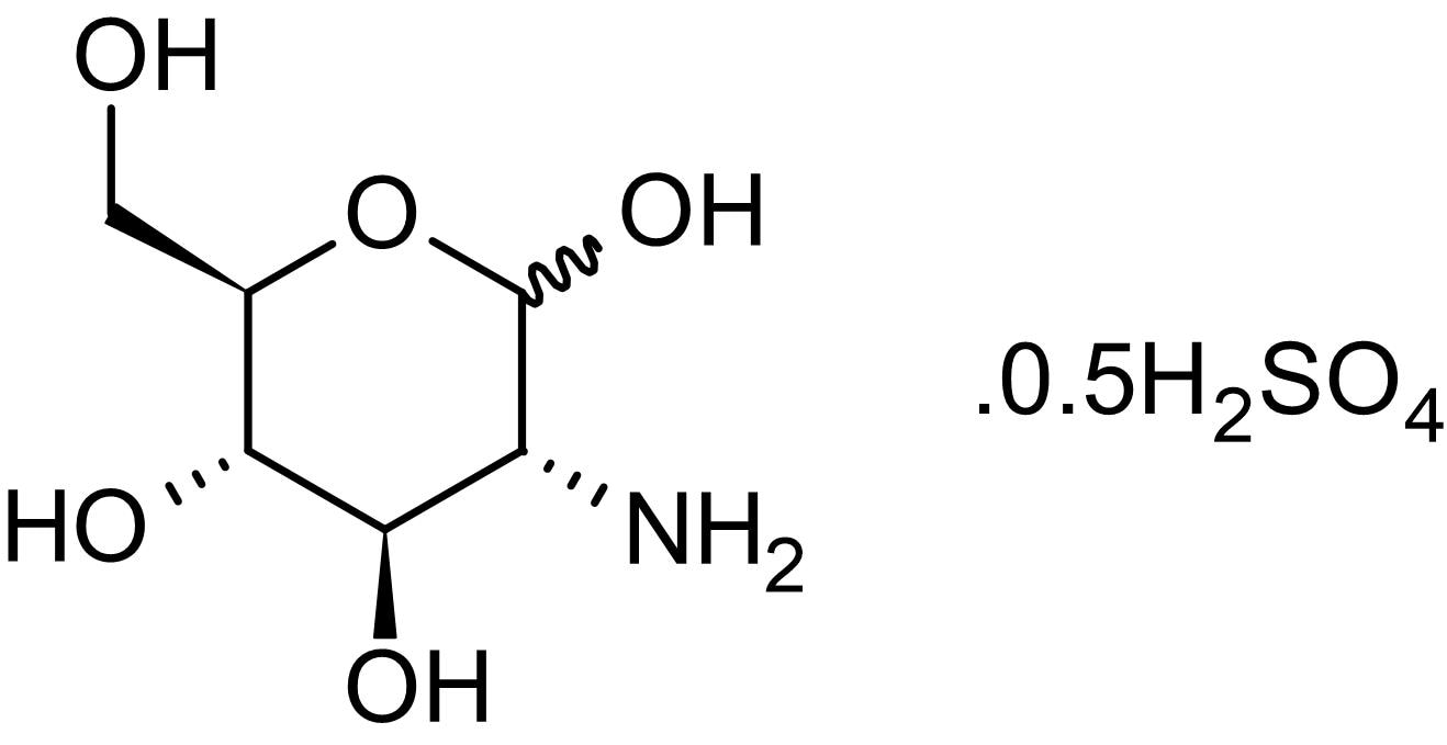 Chemical Structure - Glucosamine sulfate, Postranslational modification regulator (ab143629)
