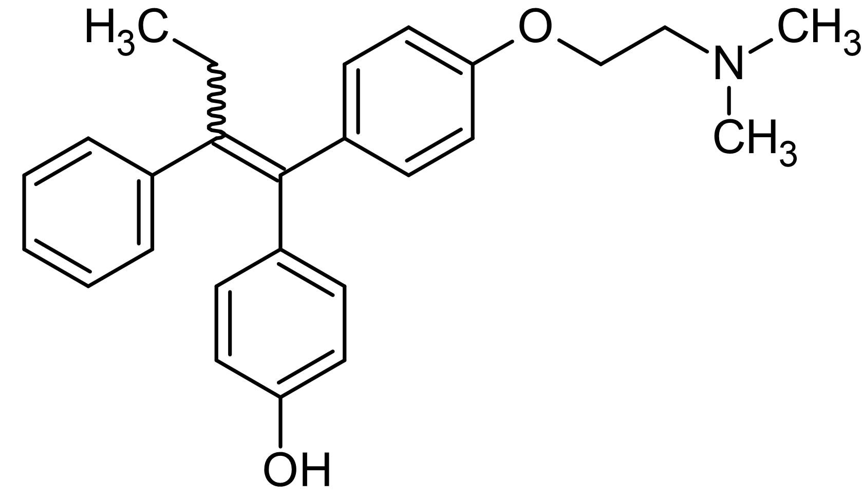 Chemical Structure - (E,Z)-4-Hydroxytamoxifen (17197F0KYM), estrogen receptor modulator (ab143638)