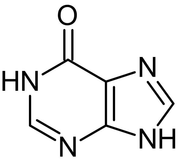 Chemical Structure - Hypoxanthine, Purine derivative (ab143643)